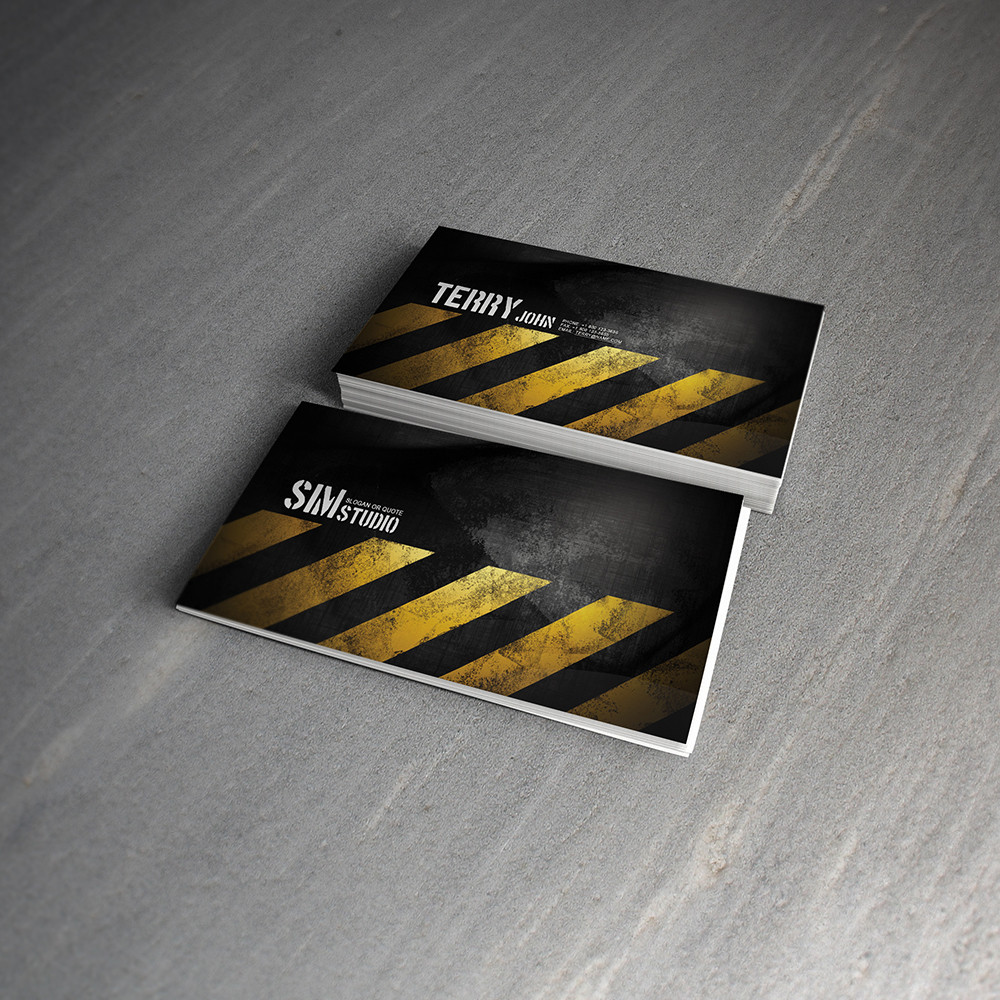 01.grunge.business.card.LimooGraphic