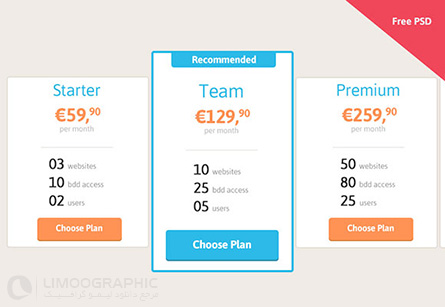 flat-pricing-table-psd
