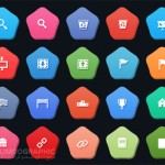 Flat-Colorful-Pentagon-Icons-Set-PSD-limoographic