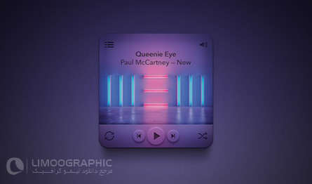 Mini-Rounded-Music-Player-PSD-limoographic.com